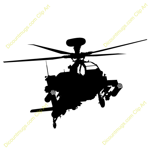 500x500 Helicopter Clipart Apache Helicopter