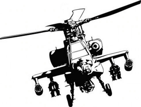 490x371 Apache Helicopter Silhouette Apache Helicopter Vector Adobe