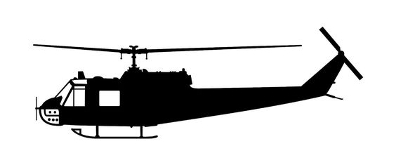564x235 Huey Helicopter Silhouette
