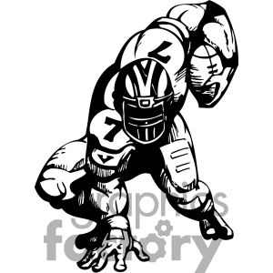 300x300 Running Back Dodging A Tackle Football Images Clip