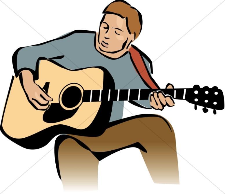 776x671 Guitar Player Leading Worship Worship Clipart
