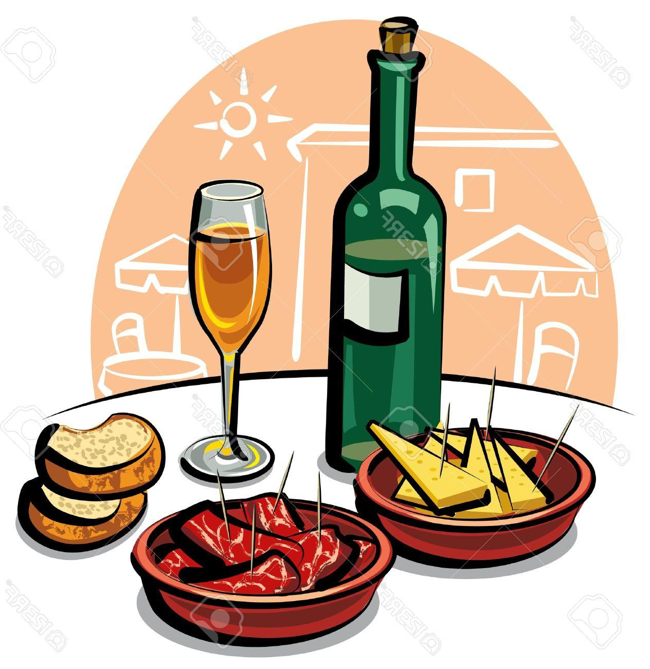 appetizer clipart appetizers clip nibbles cocktails wine clipartmag vector cliparts gala late opening special refreshments west spanish