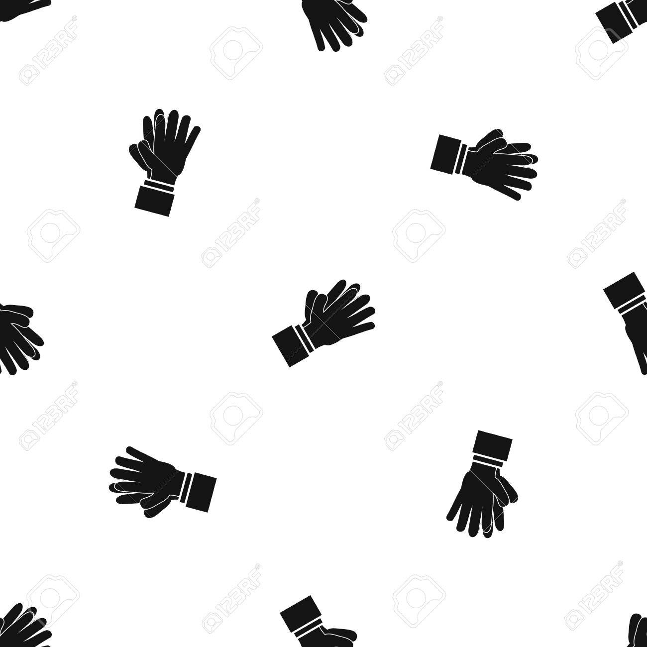 1300x1300 Clapping Applauding Hands Pattern Seamless Black Royalty Free