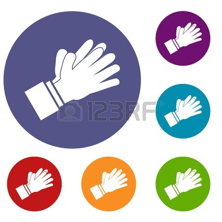 450x450 Clapping Applauding Hands Set 9 Collection Royalty Free Cliparts