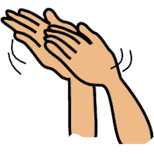 300x300 Clapping Hands Clip Art
