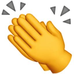 256x256 Clapping Hands Emoji U 1f44f