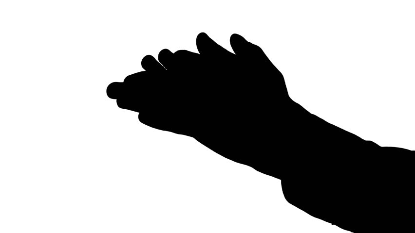 852x480 Clapping Hands Silhouette
