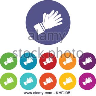321x320 Clapping Applauding Hands Icon White Stock Vector Art