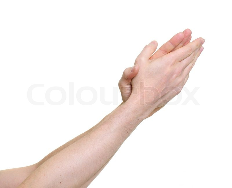 800x649 Clapping Hands Giving Applause Over A White Background Stock
