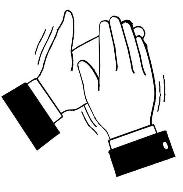 600x628 Clipart Hands Clapping