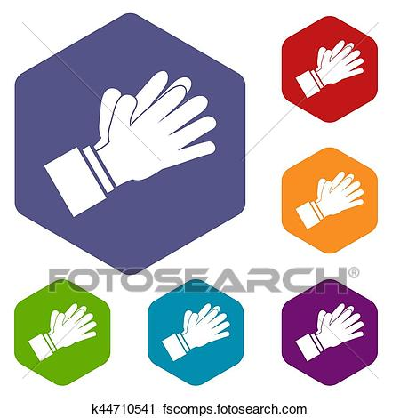 450x470 Clipart Of Clapping Applauding Hands Icons Set K44710541