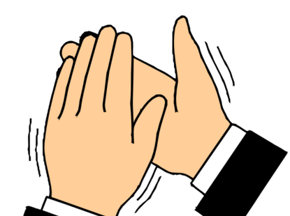 415x310 Hand Clipart Applause