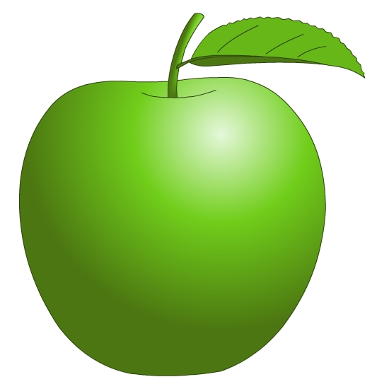 550x550 Basket Clipart Green Apple