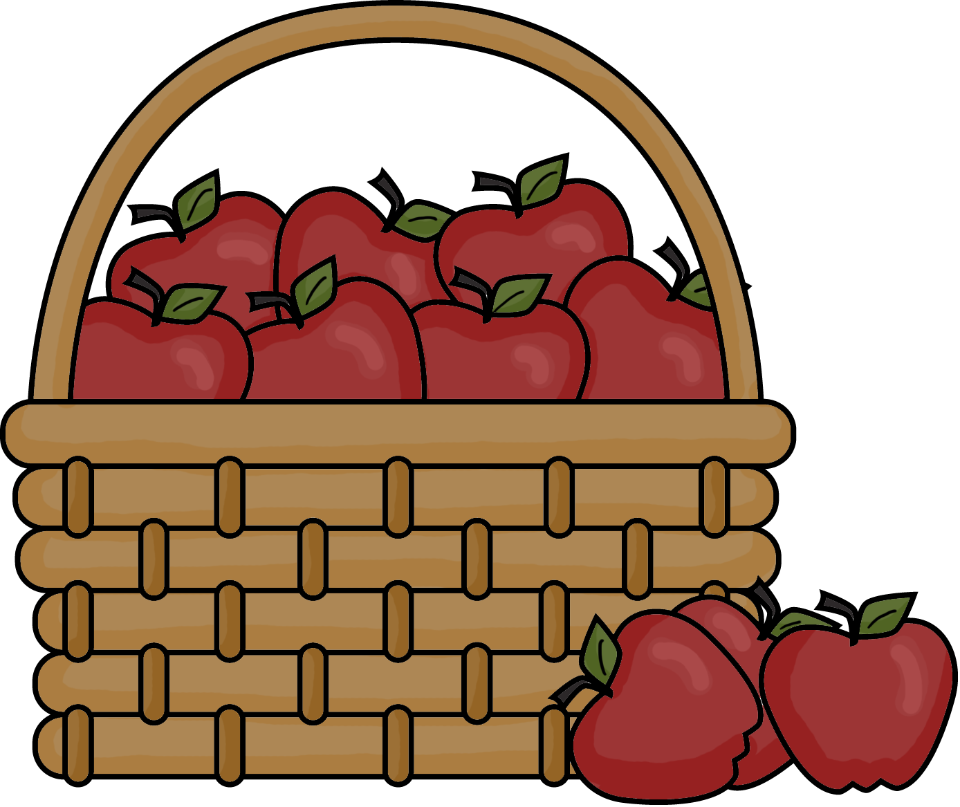 1388x1167 Best Apple Basket Clipart