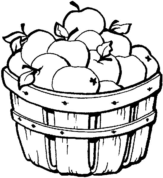 550x599 Best Apple Basket Clipart