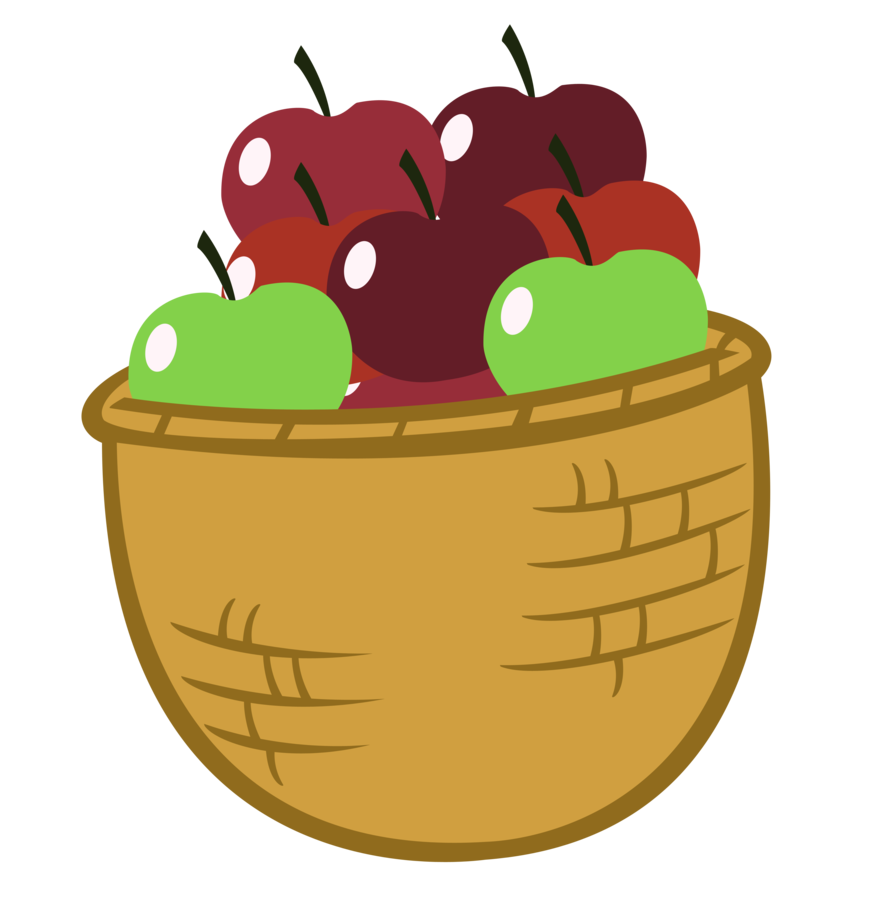 882x905 Best Apple Basket Clipart