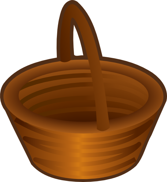 546x595 Empty Basket Clip Art
