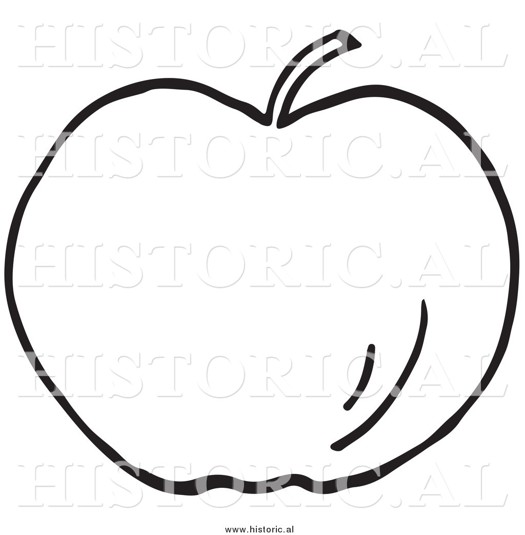 Apple Black And White Clipart