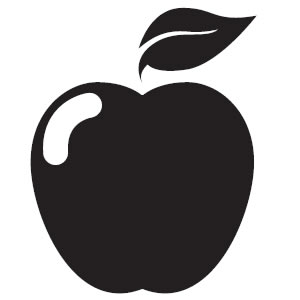 300x300 Apple Black And White Clip Art Clipart