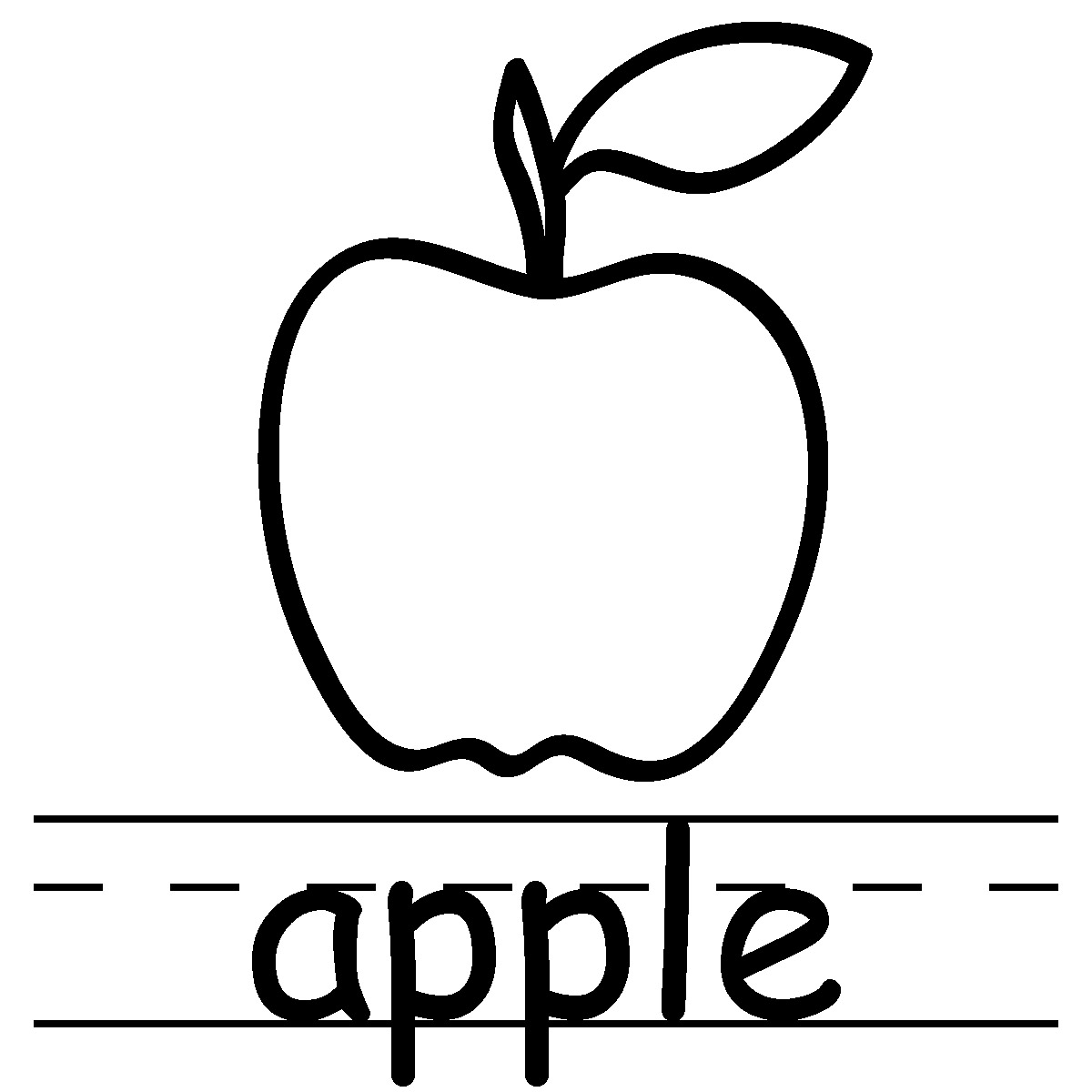 1200x1200 Apple Black And White Image Of Teacher Clipart Black And White