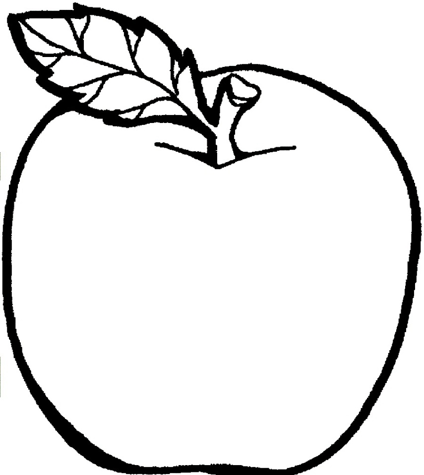 855x958 Apple Black White Apple Black And White Apple Clip Art 6