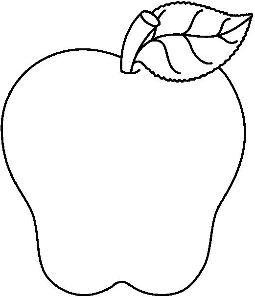 521x608 Apple Black White Black And White Apple Clip Art 3