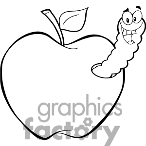 300x300 Apple Clipart Line Art