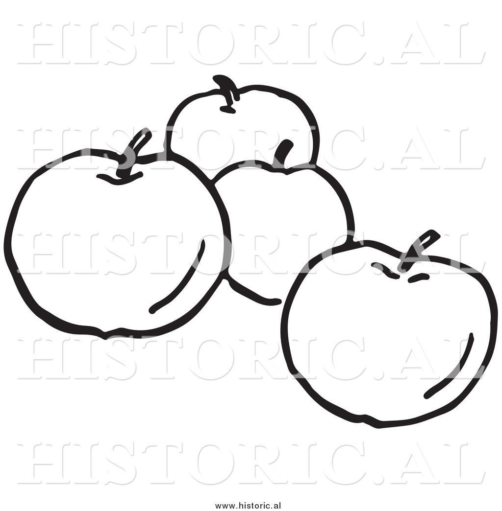 1024x1044 Clipart Of Four Apples