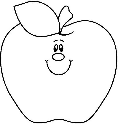 485x512 Apple Clipart Balck White