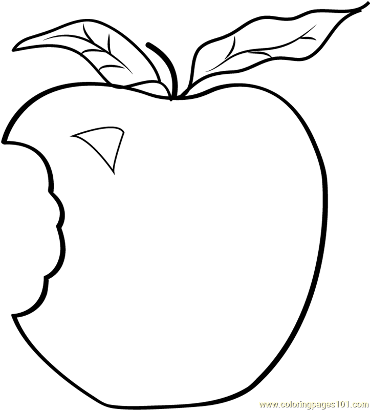 723x800 Apple Clipart Colouring Page