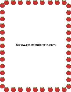 230x300 Apple Border Clipart