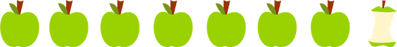 800x95 Fruit Border Clip Art