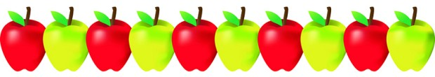 620x110 Red And Green Apples Border Borders Decoration Classroom