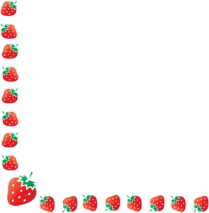 295x300 Strawberry Border Clip Art