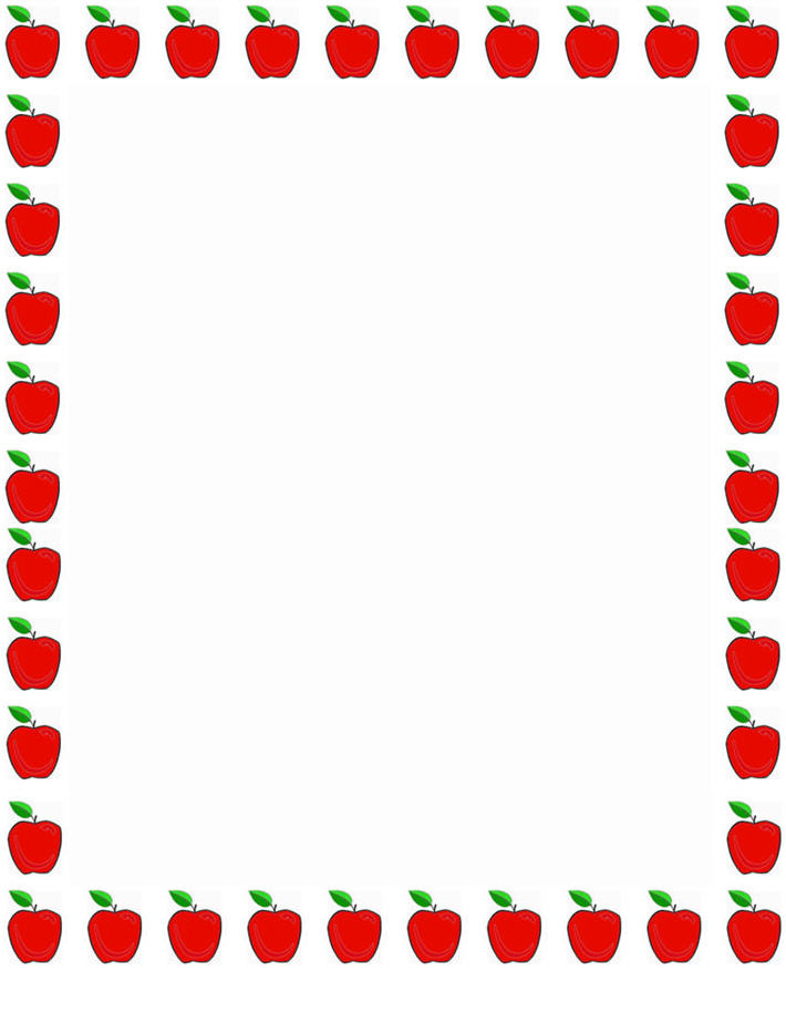 710x915 Teacher Apple Border Clipart Clipart Panda