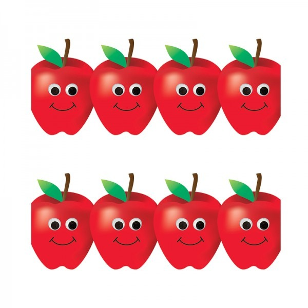 600x600 Apple Border Happy Apples Border