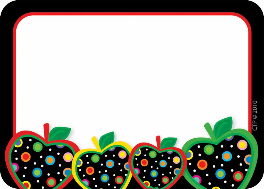 900x643 Dots On Black Apples Name Tags Adhesive, Free Printable And Pdf