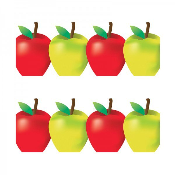 600x600 Green And Red Apples Border