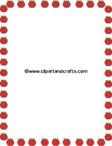 230x300 Printable Apples Border Paper