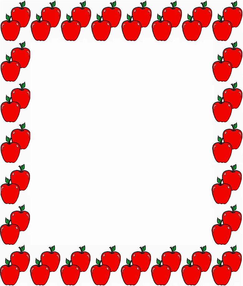 779x915 Teacher Apple Border Clipart