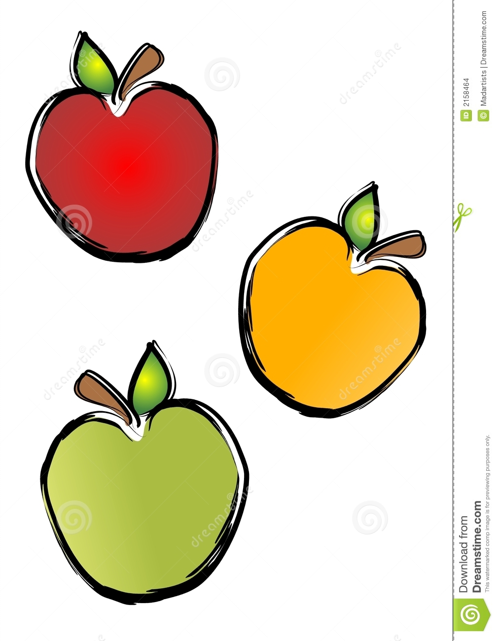 1008x1300 Red Apple Green And Yellow Border Clip Art Cliparts