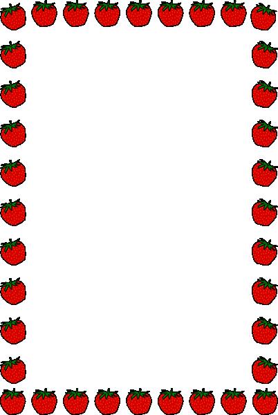 402x600 Strawberry Border Clip Art