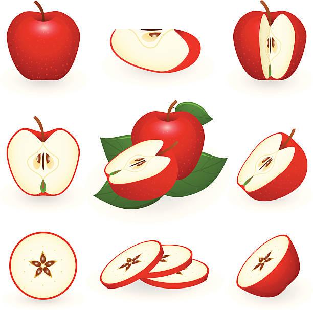 612x606 Cut Apple Clipart