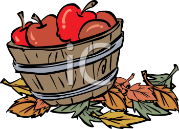 350x252 Apple Basket Clipart Free