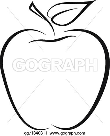 379x470 Apple Clipart Sketch