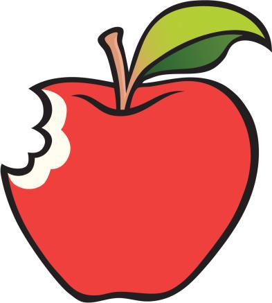 393x437 Bitten Apple Clipart 101 Clip Art