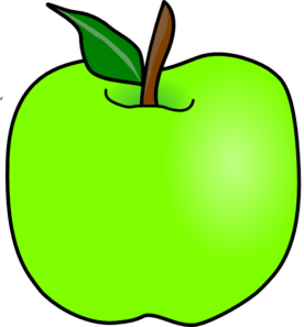 276x297 Green Apple Clipart Free