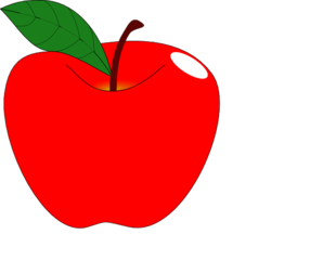 298x240 Red Apple 1 Clip Art