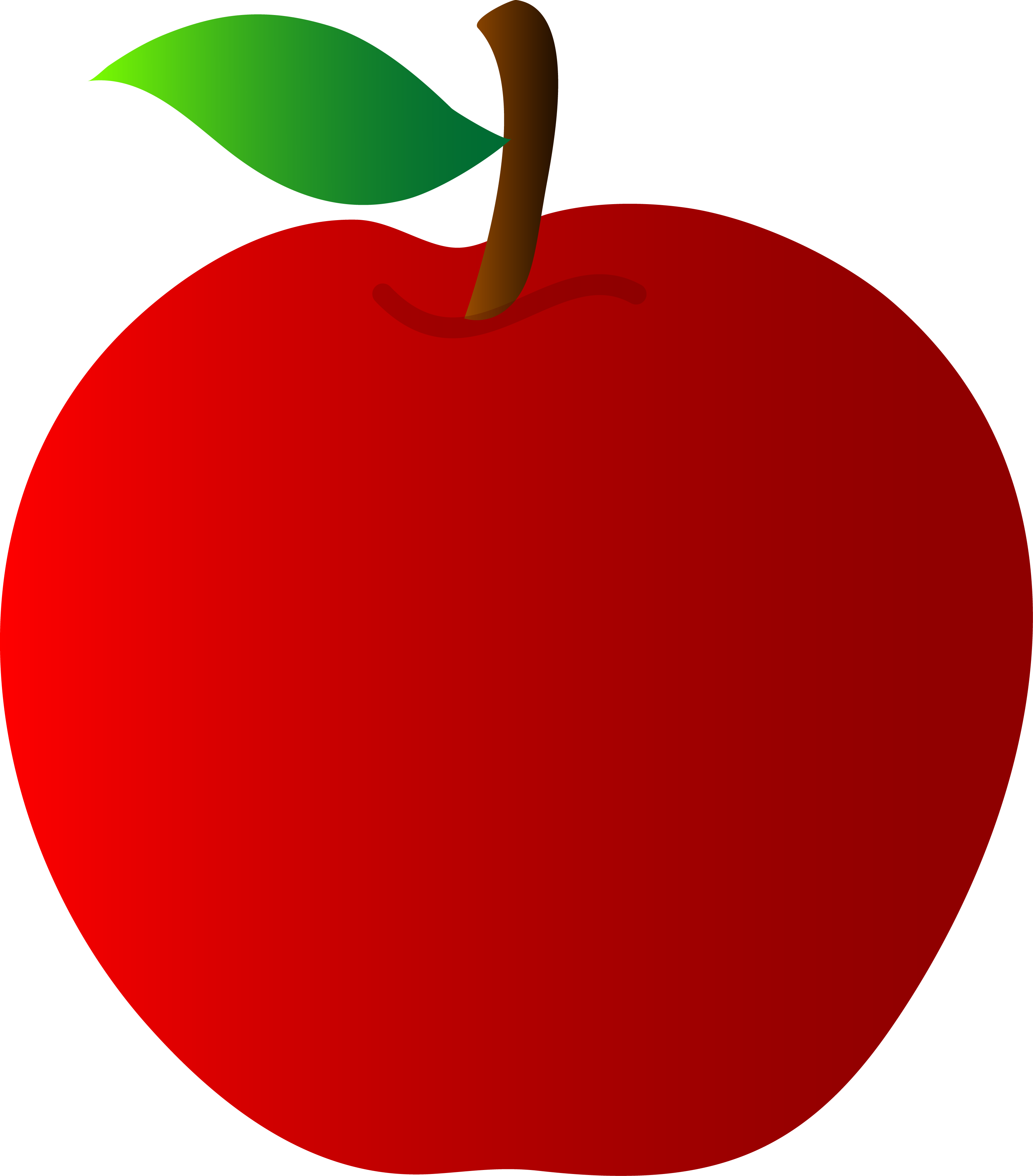 3097x3526 Red Apple Vector Art