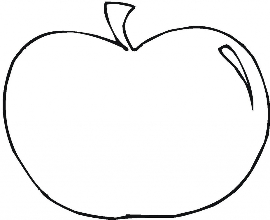 1024x833 Apple Outline Picture Apple Outline Clip Art Clipart Panda Free